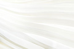 White fabric pleated background Stock Images