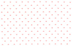 White Fabric with red hearts pattern, texture, background Royalty Free Stock Image