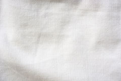 White fabric texture background Stock Images