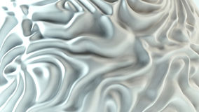 White Fabric texture background. Rippled white fabric background in luxurious satiny material. 3D Illustration Stock Images