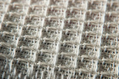 White fabric texture. Macro photography of cotton Royalty Free Stock Photography