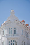 White facade of old style building Royalty Free Stock Images