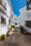 White facades in Frigiliana village, Andalusia,Spain Royalty Free Stock Photo