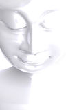 White face of Buddha Royalty Free Stock Image