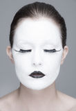 White face girl Royalty Free Stock Photography