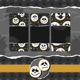 White faces Halloween badge set Royalty Free Stock Images