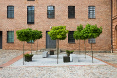White factory in Lodz Royalty Free Stock Image