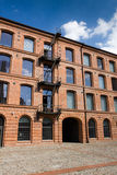 White factory in Lodz Royalty Free Stock Photos