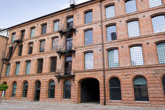White factory in Lodz Stock Image