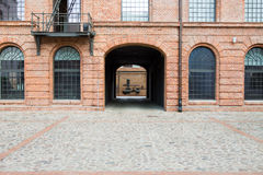 White factory in Lodz Royalty Free Stock Images