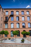 White factory in Lodz Stock Photography