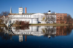 White Factory in Lodz, Poland Stock Image