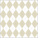 White and false colored argyle patern. Colorful white and false argyle smoothly continuous pattern. Vector illustration Stock Photography