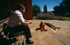 A white family at home in rural South Africa Royalty Free Stock Photography