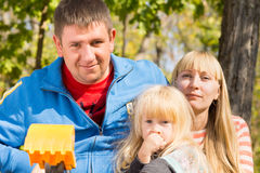 White Family Looking at the Camera Royalty Free Stock Photography