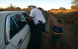 A white family in rural South Africa. Royalty Free Stock Images