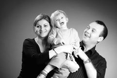White family smiling Stock Image