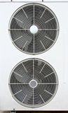 White fan of air conditioners Stock Photos