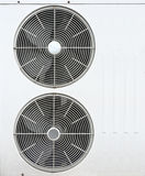 White fan of air conditioners Royalty Free Stock Image