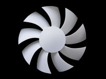 White fan blades on black Stock Images