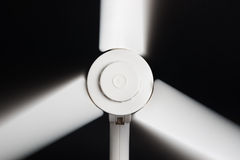 White fan blades in motion Royalty Free Stock Photography