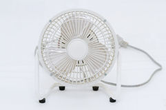White Fan dirty with dust. Stock Photo