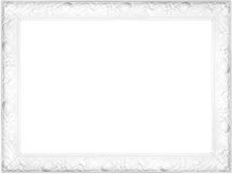 White fancy frame. White rich frame isolated on white background Royalty Free Stock Photo