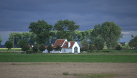 White farmhouse in Belgium Stock Photo