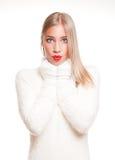 White fashion winter beauty. Stock Image