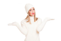 White fashion winter beauty. Stock Images