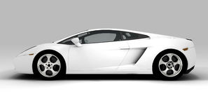 White fast car. A white ecological car isolated on background Stock Photography