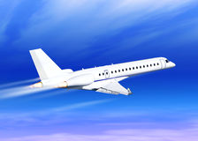 White fast jet stock photo
