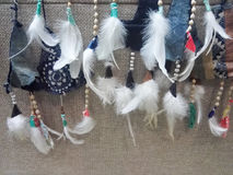 Beautiful white feather accessories Royalty Free Stock Images