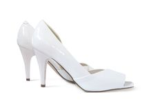 White female shoes Stock Images