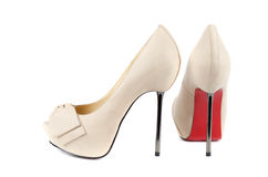 White female shoes Royalty Free Stock Photo