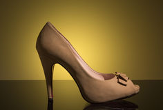 White female shoes Stock Photo
