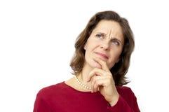White female thinking Stock Photography