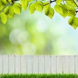 White fence Royalty Free Stock Photo