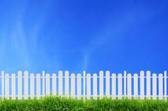 White fence Royalty Free Stock Photos