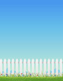 White Fence And Blue Sky Royalty Free Stock Photo