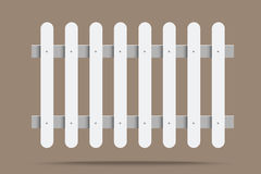 White fence Royalty Free Stock Photography