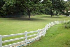White fence Royalty Free Stock Image