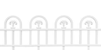 White fence isolated on white background Stock Photography