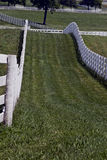 White Fence Line Stock Photos