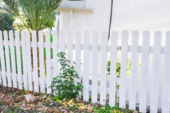 White fence in perspective Stock Photography