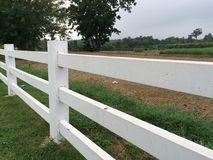 White Fence Stock Photography