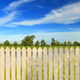 White fences Royalty Free Stock Images