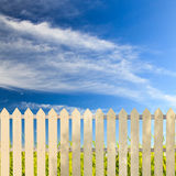 White fences Stock Image