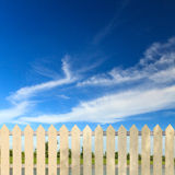 White fences Stock Photo