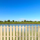 White fences Royalty Free Stock Photo
